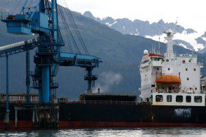 Photo of coal being loaded in Seward courtesy of Hig and Erin at Ground Truth Trekking.