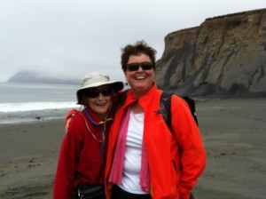 Vicki Clark on a Kodiak beach.