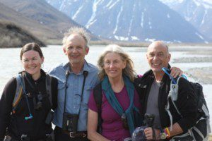 Bob Childers (second from the left) on a trip into the Arctic National Wildlife Refuge with Trustees for Alaska staff and directors.