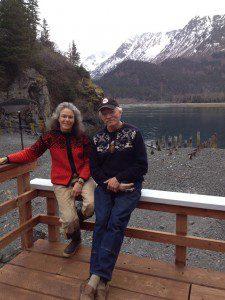 Pete Mjos and Karen Ruud in Kachemak Bay.