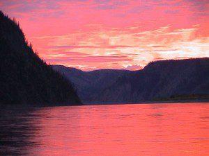 Yukon River sunset. NPS Photo