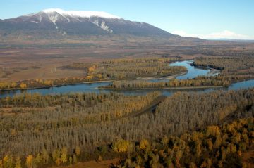 Aerial view of the Chuitna River.
