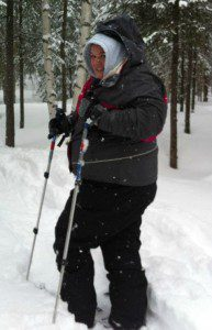 Snowshoeing at Alaska Pacific University, Brittany's alma mater.