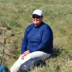 Vickie Clark enjoying beautiful scenery and sunny skies in the Arctic National Wildlife Refuge!