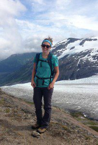 Nicole Budine on the Harding Icefield hike in Kenai Fjords National Park.