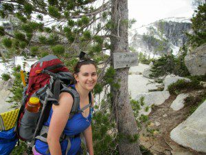 Kendall on a hiking adventure on the Enchantment Lakes Trail in Washington's Cascade Mountains.