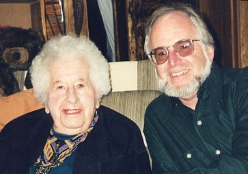 Vance Carruth with his friend and mentor Mardy Murie, circa 1996. Photo courtesy of Vance Carruth.