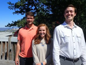 2016 summer interns Christian Tucker, Jaclyn Brass and Esack Grueskin.
