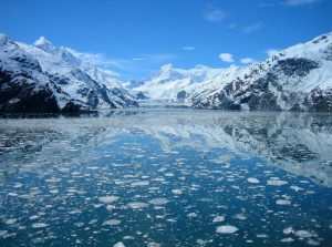 Johns Hopkins Glacier on a dramatically sunny day in Glacier Bay National Park and Preserve. NPS Photo.