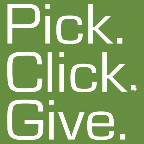 Pick.Click.Give. by end of month!