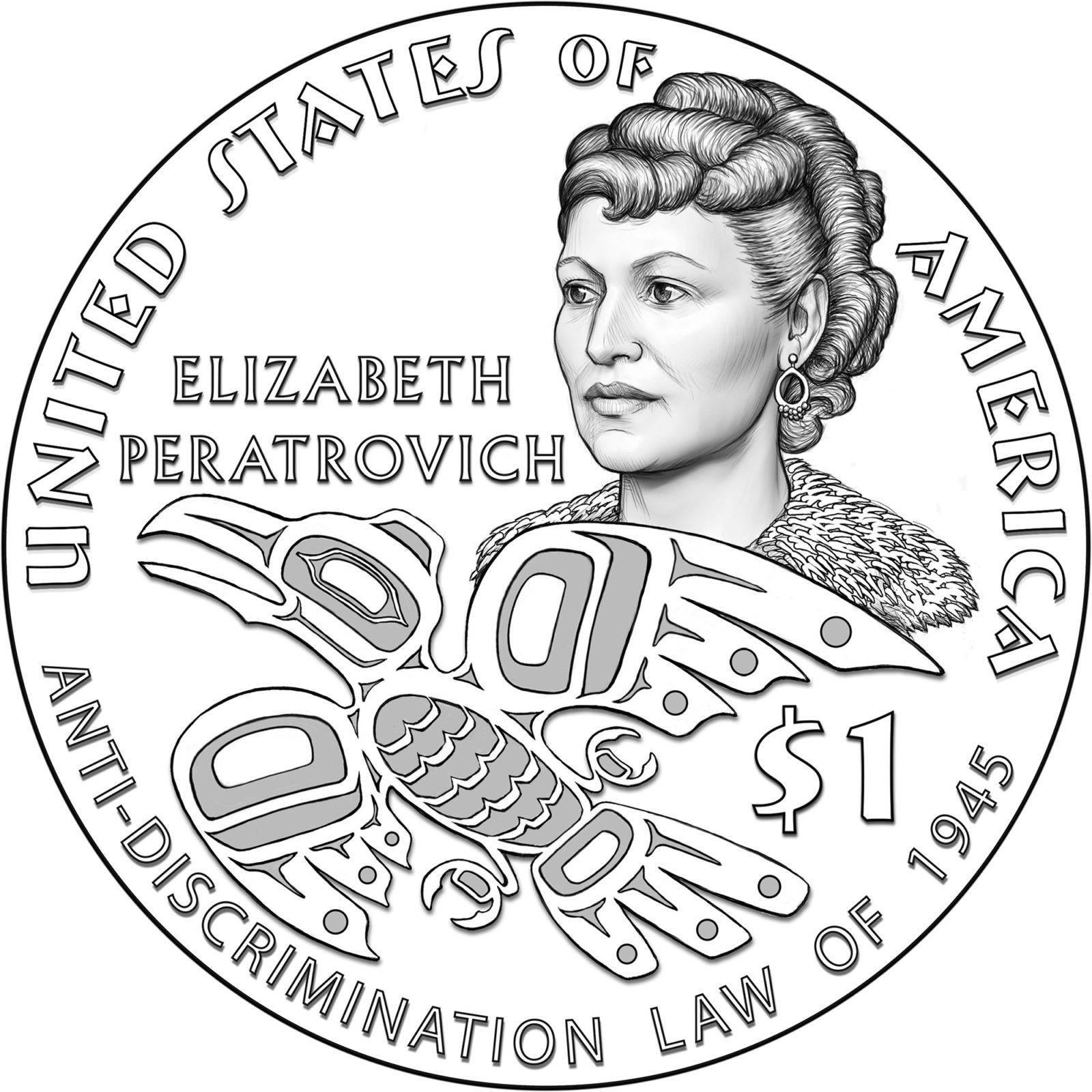 Honoring Elizabeth Peratrovich with a commemorative coin.